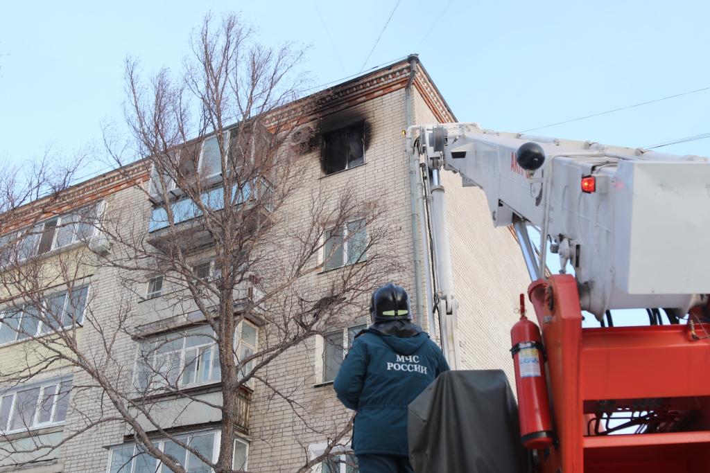 В Прогрессе ликвидировали возгорание в многоквартирном доме