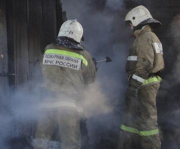 В Сковородинском районе горела частная баня