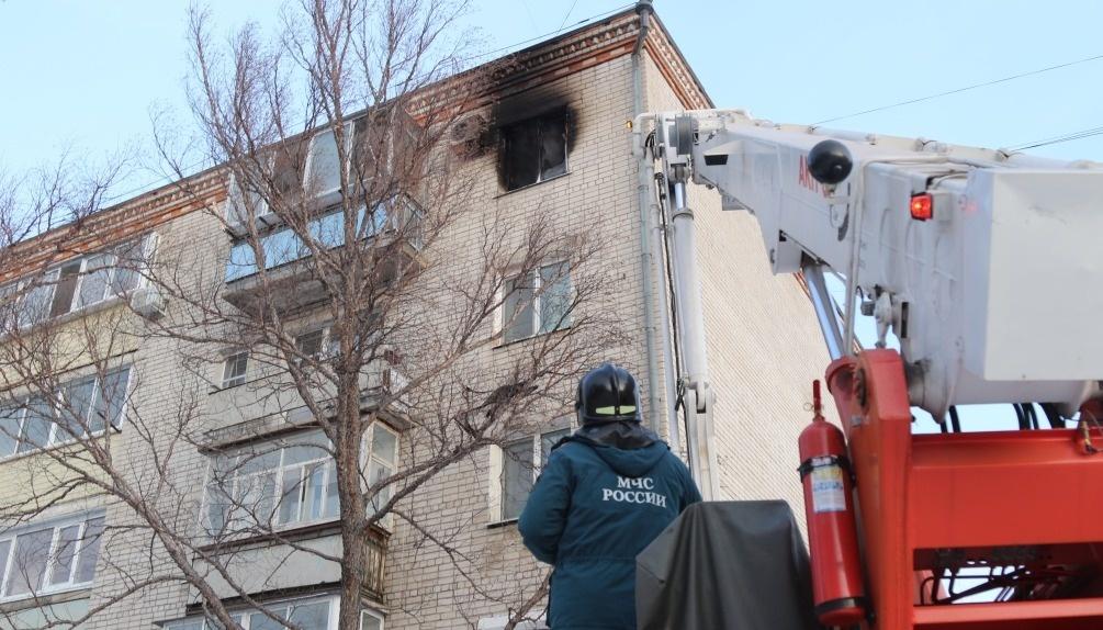 Огнеборцы Шимановска ликвидировали возгорание в квартире