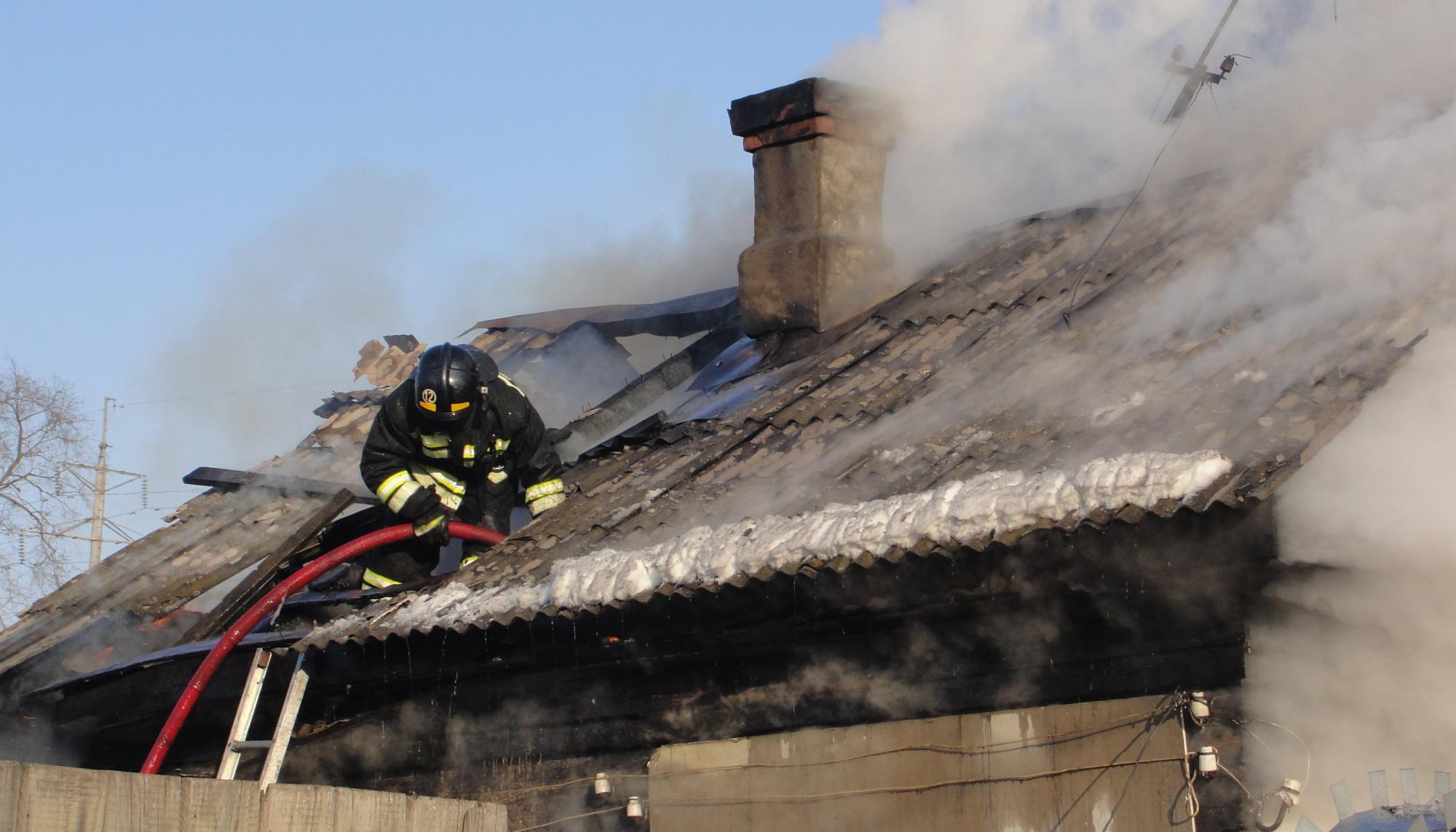 Свободненские огнеборцы выезжали на тушение жилого дома