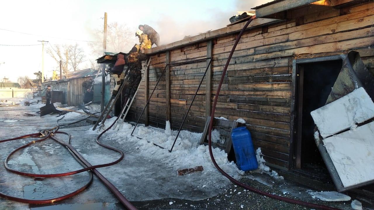 В Тыгде огнеборцы ликвидировали возгорание магазина