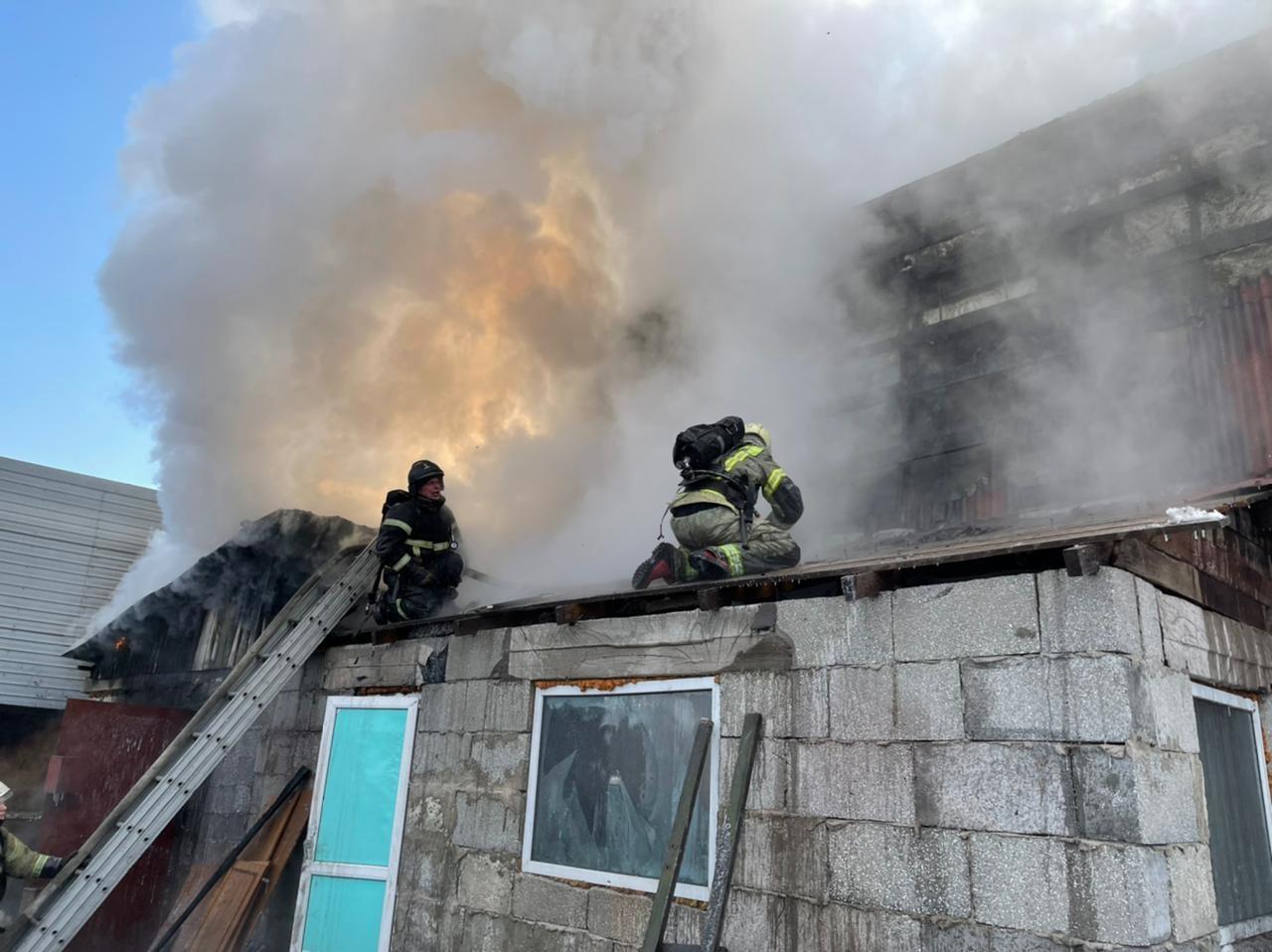 В Прогрессе ликвидировали возгорание  жилого дома