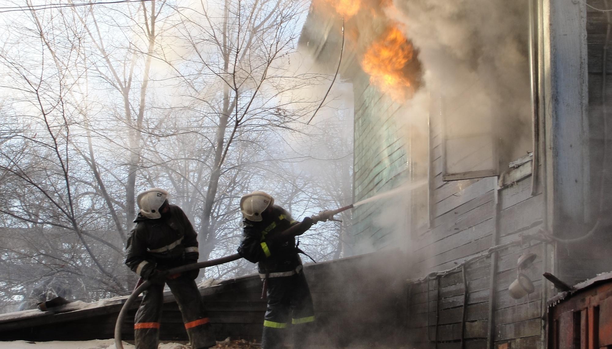 В Белогорском районе пожарные ликвидировали возгорание бани