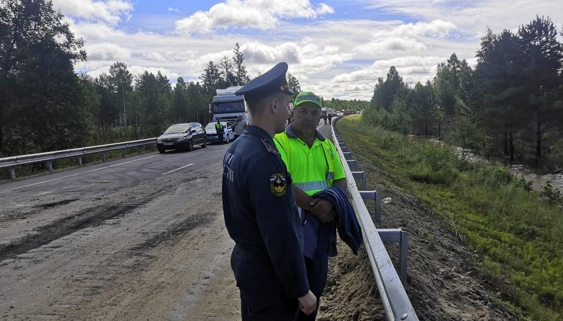 """На федеральной автодороге Р- 297 """"Амур"""" в Магдагачинском районе открыто реверсивное движение"""